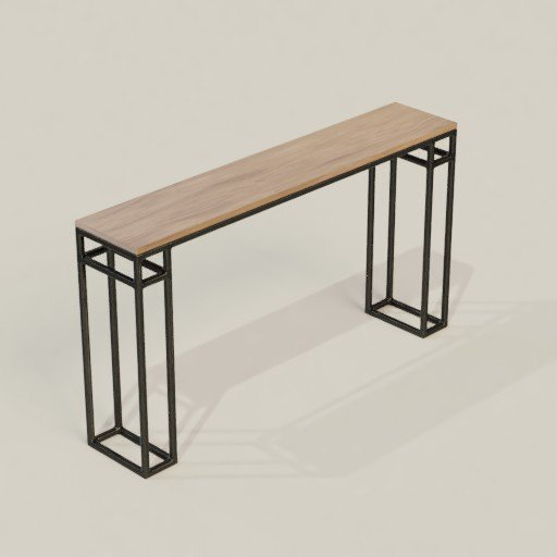 Thumbnail: Wooden Table Bar Steel Leg