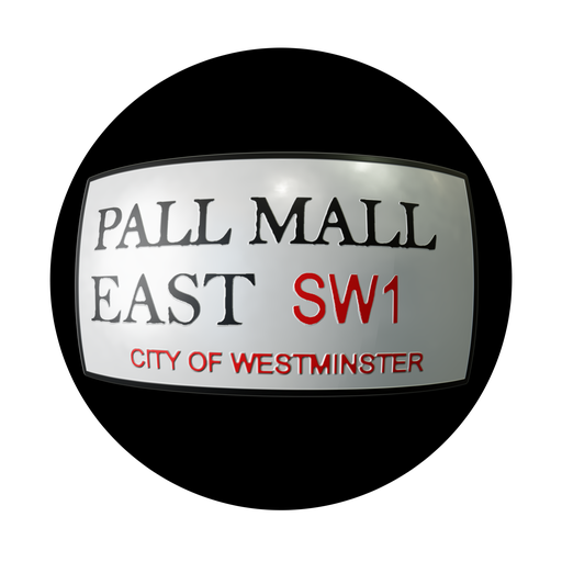 Thumbnail: Pall Mall East Road Sign