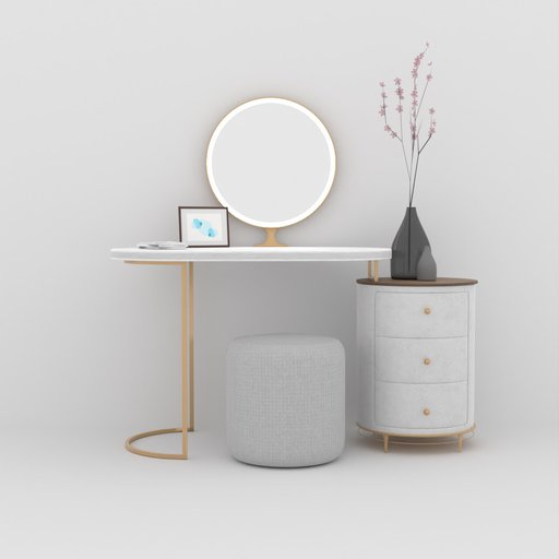 Modern Dressing Table With Decos