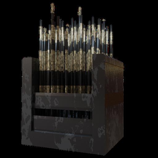 Thumbnail: Chair golden dark columns