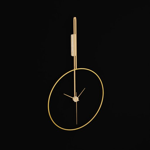 Modern Decorative Brass Wall Clock