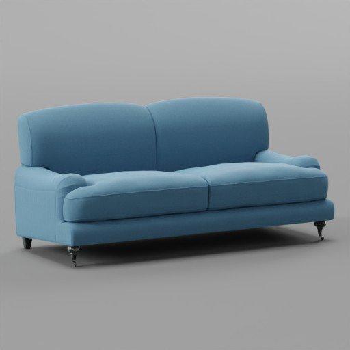 Thumbnail: Fabric Rough Blue Sofa