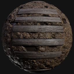 Thumbnail: Clay ground with wood