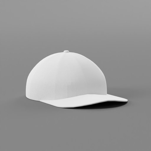 Simple Baseball Cap With White Fabric