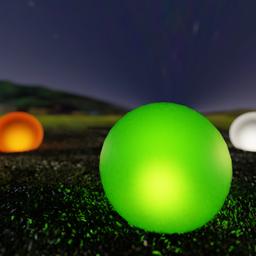 Thumbnail: Floor garden lamp- green