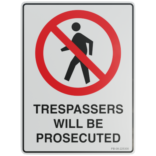 Thumbnail: Sign – Trespassers Will Be Prosecuted