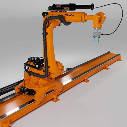 Robot KUKA KR210 rigged  amature