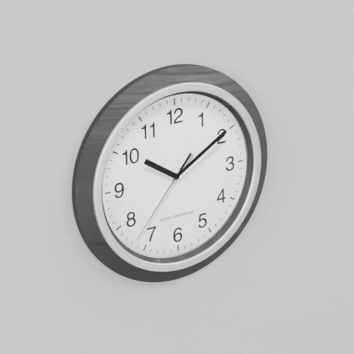 Thumbnail: Wood Black Analog Wall Clock 30cm