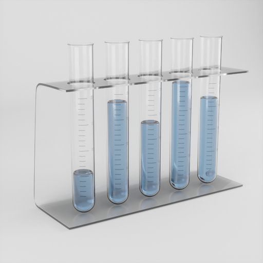 Thumbnail: Laboratory Tubes with blue fluid and glas stand