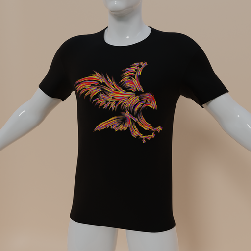 Thumbnail: Men t-shirt firebird
