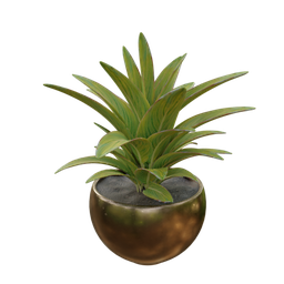 Thumbnail: Vase and plant artificial arrangement-02