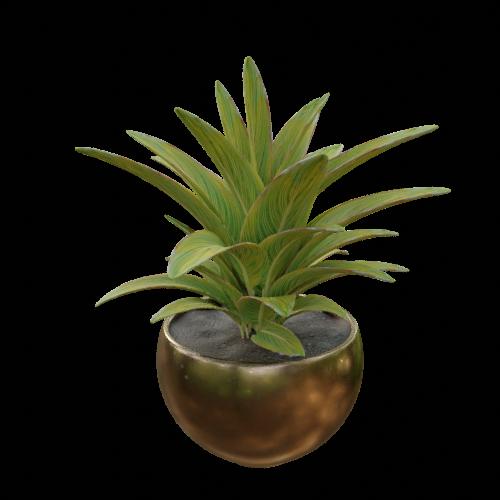 Thumbnail: Vase and plant artificial arrangement-02