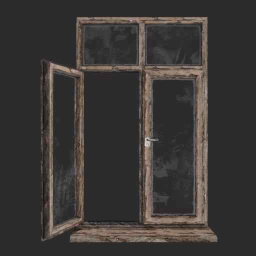 Dirty wood planks window