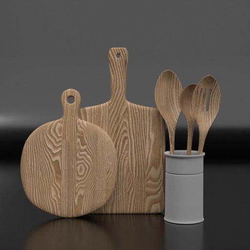 Thumbnail: Wooden Chopping Boards And Spatulas