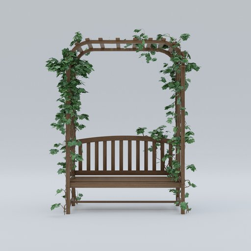 Bench with plant