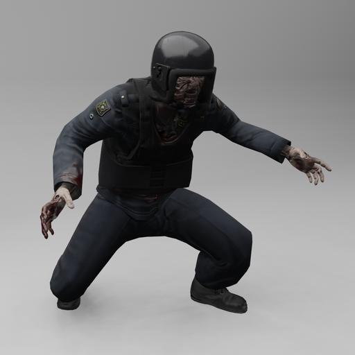 Thumbnail: Zombie riot police
