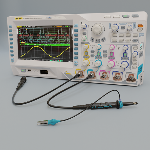 Thumbnail: Rigol MSO4014 digital 4 channel oscilloscope