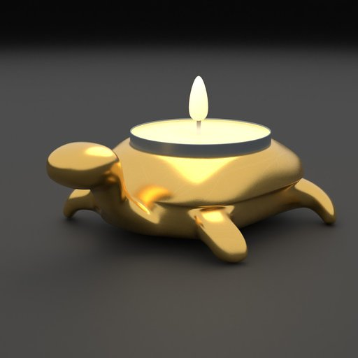 Thumbnail: Copper Turtle Candle Holder