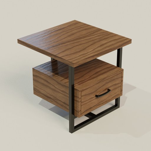 "Thumbnail: Sedley 22"" Wide Walnut 1-Drawer Modern End Table"