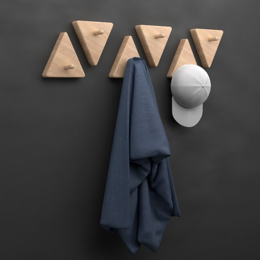 Wall Hanger With Towel and Cap