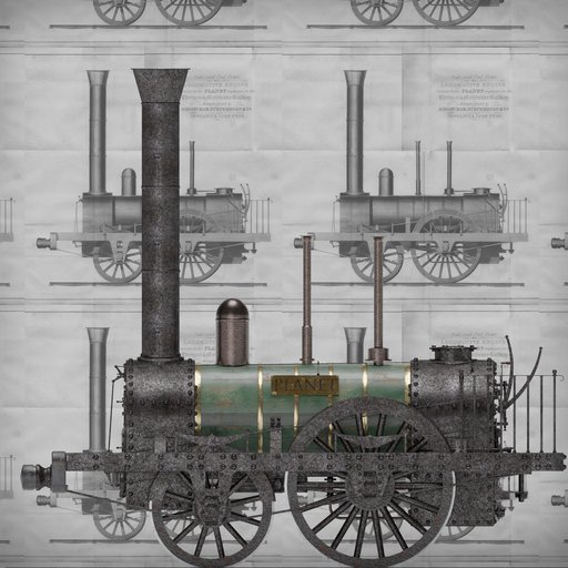 Thumbnail: The steam locomotive PLANET