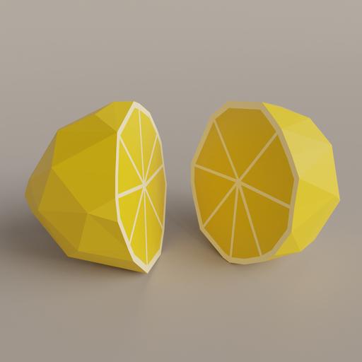 Thumbnail: Low Poly Lemon Sliced