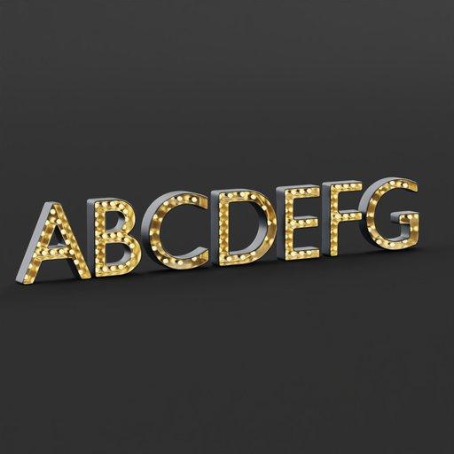 Marquee Alphabet Light Box ABCDEFG