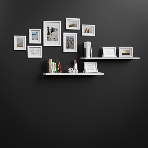 Thumbnail: Shelf with photo frames and books