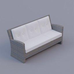 Thumbnail: rattan sofa