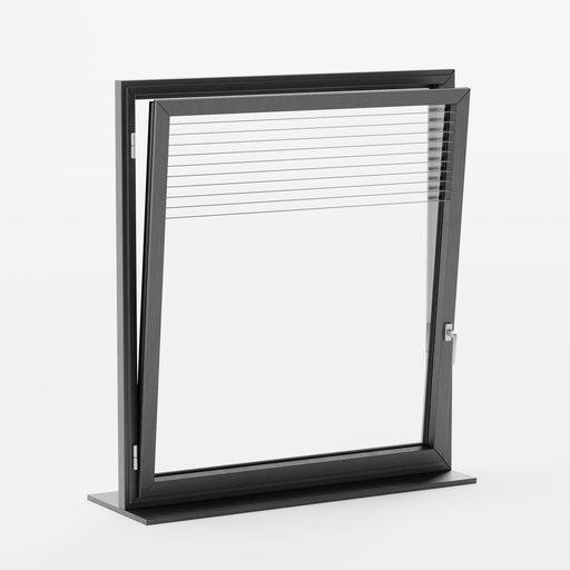 Thumbnail: Window AL Basic Single Rectangle Open