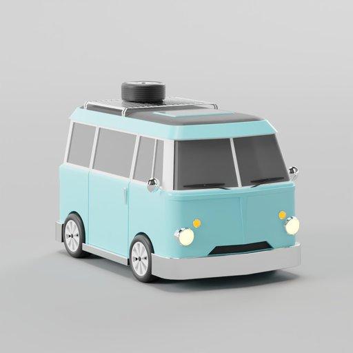 Retro Van 3D Illustration