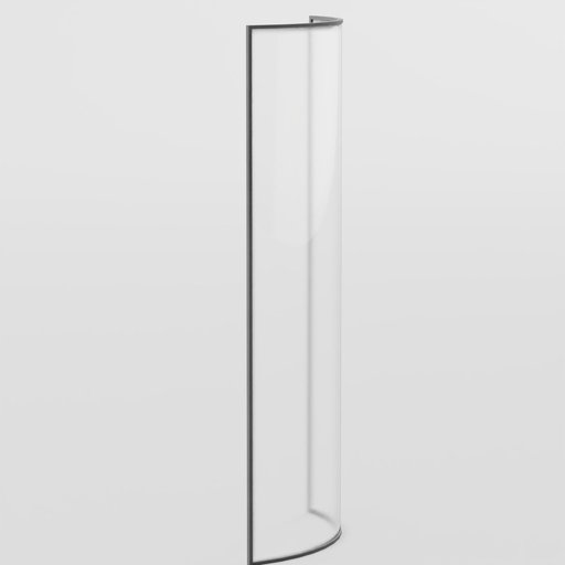Thumbnail: Curved Glass Window (Full Height)