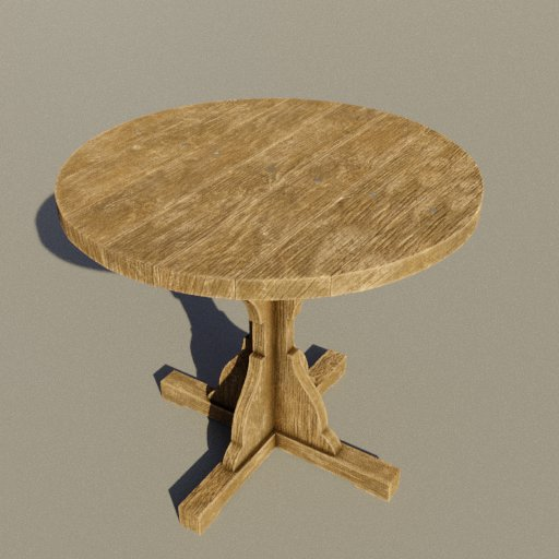 Thumbnail: Medieval wooden round table small
