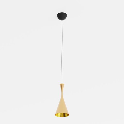 Dixon Beat Tall Pendant Gold