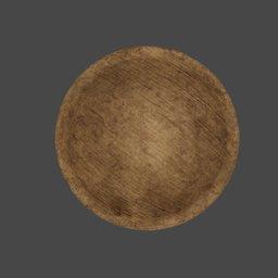 Thumbnail: medieval wooden bowl small