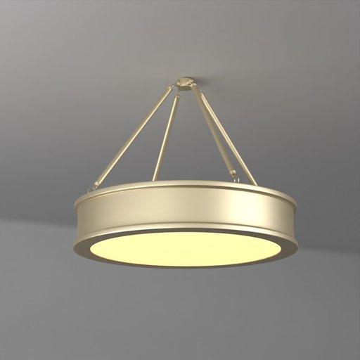 Pancake Hanging Pendant Light