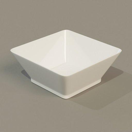 Thumbnail: Square bowl