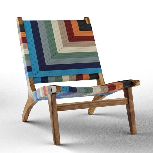 Thumbnail: Vaqueano Woven Lounge Chair