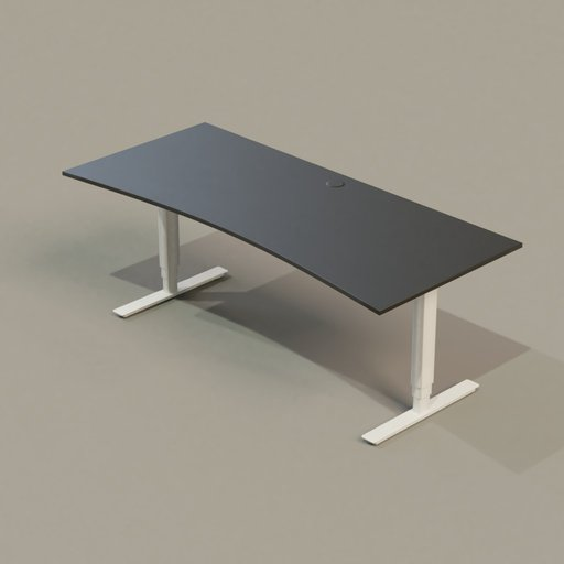 Thumbnail: Office Collection 01 PC Table (Black On White)