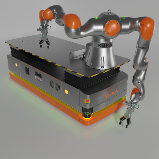 Thumbnail: Robot KUKA Iiwa 14 on KMP1500