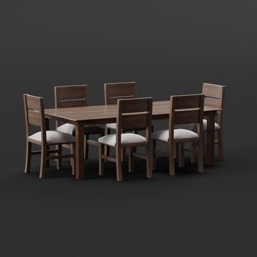 Thumbnail: Table with 6 Chairs