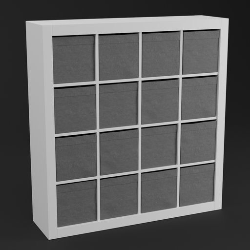 Thumbnail: IKEA like shelf with 16 boxes