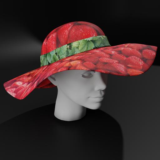 Strawberry sun hat