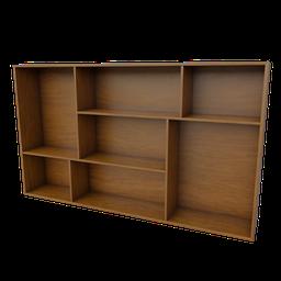 Thumbnail: Wall Wooden Book Shelf