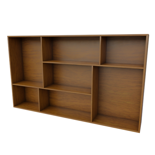 Thumbnail: Wall Wooden Book Shelf