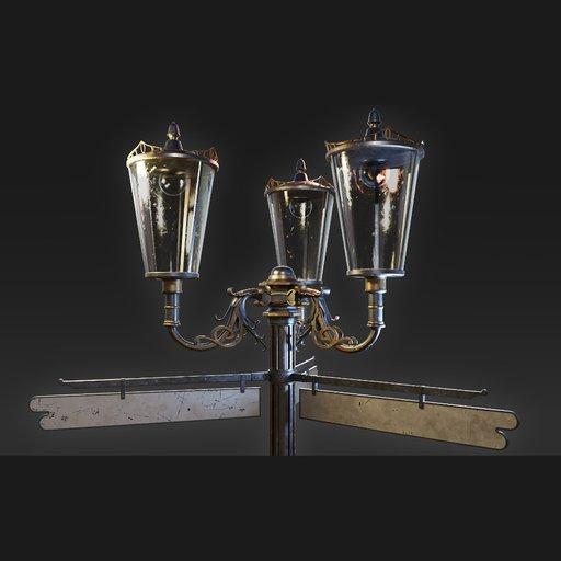 Thumbnail: Vintage Victorian Street Lamp 002