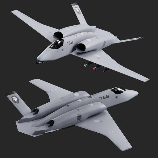 Futuristic jet