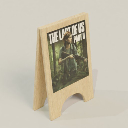 Thumbnail: Wood Poster Diplay Stand