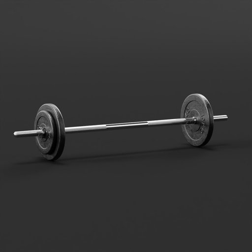 Thumbnail: Barbell bar with weights