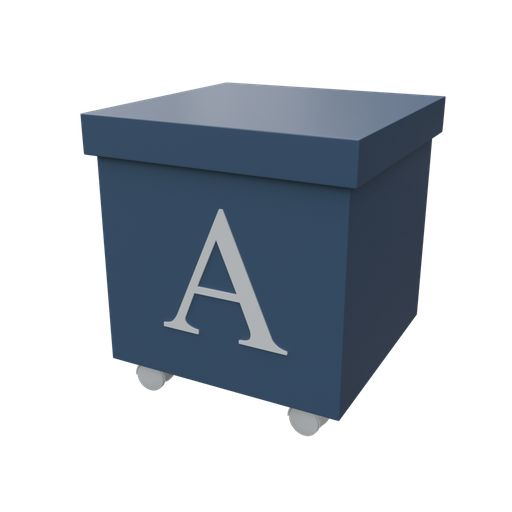 Thumbnail: Blue organizer box with casters-02